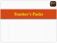 Teacher's Pack