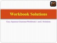 Easy Japanese Grammar Workbook Solutions