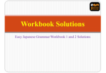 Easy Japanese Grammar Workbook Solutions